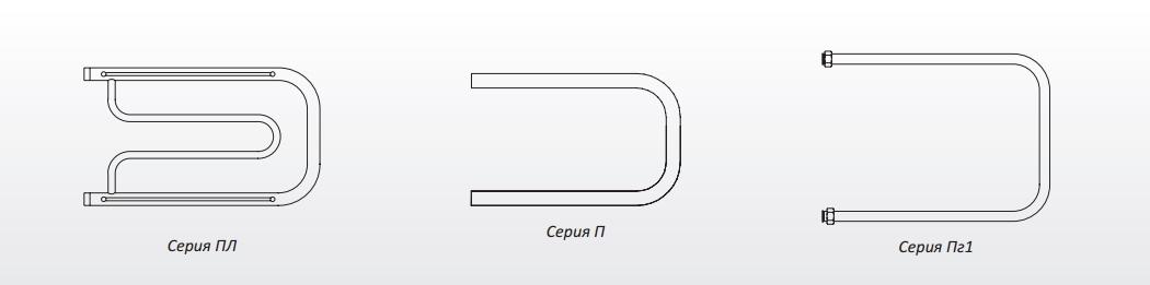 """Водяной полотенцесушитель cерия """"БРАВО"""" ПМ серия 3 межосевое расстояние 50 см."""